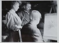 Charles M. Russell and Friends in Studio