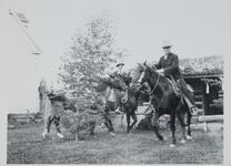 Charles M. Russell and Friends on Horseback