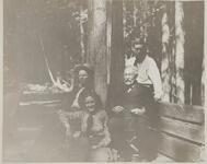 Charles M. Russell with Isabel, Austin, and C. S. Russell