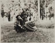Charles M. Russell and Nancy C. Russell with Friend
