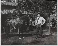 Charles M. Russell and Horse