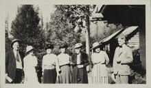 Charles M. Russell and Nancy C. Russell with Five Others