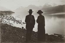 Man and Woman Near Lake Shore