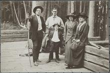Charles M. Russell, Nancy C. Russell and  Austin Russell with Friends