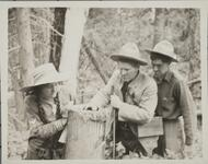 Charles M. Russell with Isabel and Austin Russell