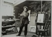 Charles M. Russell in Montana Studio