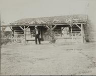 Charles M. Russell in Front of Studio