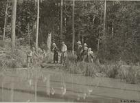 Charles M. Russell with Small Group Near Water