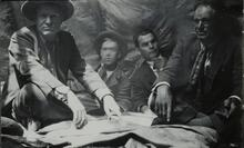 Charles M. Russell with Three Men