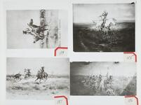 Four Photographs on One Page  Cowboys and Indians