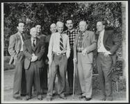 Homer Britzman Standing with Friends
