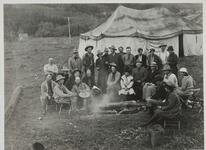 Charles M. Russell and Friends in Camp
