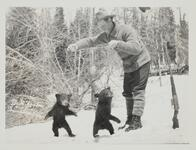 Man with Two Bear Cubs