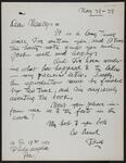 Letter from W.G. Krieghoff to Nancy C. Russell