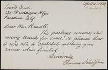 From Emma Schatzlein to Nancy C. Russell