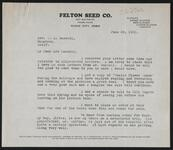 From W. R. Felton to Nancy C. Russell