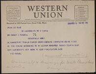 Telegram from H.E. Maule to Nancy C. Russell