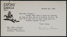 Letter from the Eaton Brothers to Nancy C. Russell