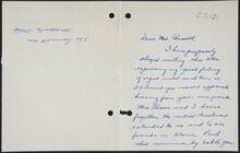 Letter from James M. Brown to Nancy C. Russell