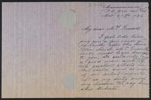 Letter from Mrs. John Fery to Nancy C. Russell