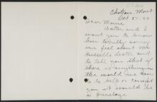 Letter from Nell Garham to Nancy C. Russell