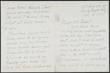 Letter from Agnes E. Sweet to Nancy C. Russell