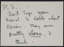 Post script from Eleanor Rogers to Nancy C. Russell