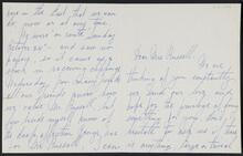 Letter from Madeleine L. Sack to Nancy C. Russell