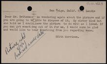 From Edith Morrison to Homer E. Britzman