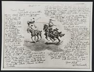 Reproduction of an illustrated letter from Charles M. Russell