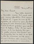 Letter from James Pearson to Charles M. Russell