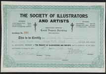 Certificate for Charles M. Russell