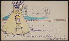 Illustrated postcard from Joe Scheuerle