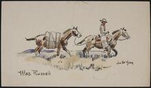 Sketch from Joe De Yong to Nancy C. Russell