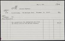 Invoice from Arizona Highways to H.E. Britzman