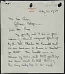 Letter from Katherine Young to Con Price