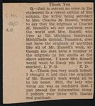 Newspaper Clipping from an editor, correcting a mistake in a recent paper