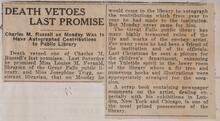Death Vetoes Last Promise