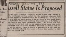 Russell Statue Is Proposed