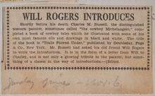 Will Rogers Introduces