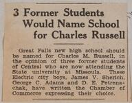 3 Former Students Would Name School for Charles Russell