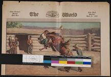 Newspaper with color reproductions of artwork by Will James and G. C. Seltzer