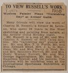 "To View Russell's Work: Western Painter Plans ""Varnishing Day"" at Artist's Guild"