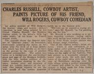 Charles Russell, Cowboy Artist, Paints Picture of his Friend, Will Rogers, Cowboy Comedian