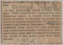 Newspaper clipping of an article with Charles M. Russell as the illustrator