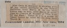 Newspaper clipping of a notice of Charles M. Russell work at Folsom