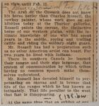 Newspaper clipping of an article about Charles M. Russell's work at the Thurber Galleries