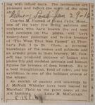 Newspaper clipping of a notice regarding Charles M. Russell display at the Thurber Galleries