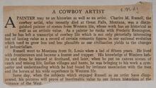 A Cowboy Artist