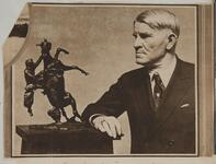 The Seattle Times 1 March 1925 Photograph of Charles Russell and statuette